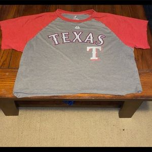 Texas Rangers cropped tee